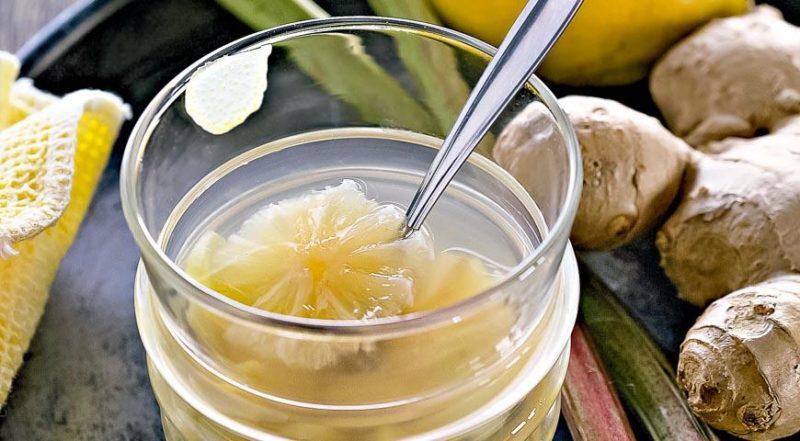 вкусный компот из ревеня
